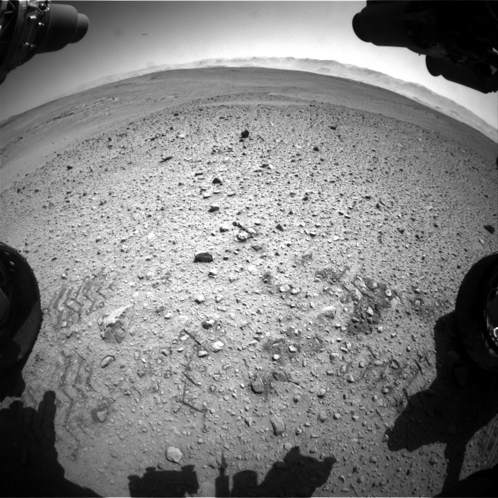 Nasa's Mars rover Curiosity acquired this image using its Front Hazard Avoidance Camera (Front Hazcam) on Sol 641, at drive 308, site number 33