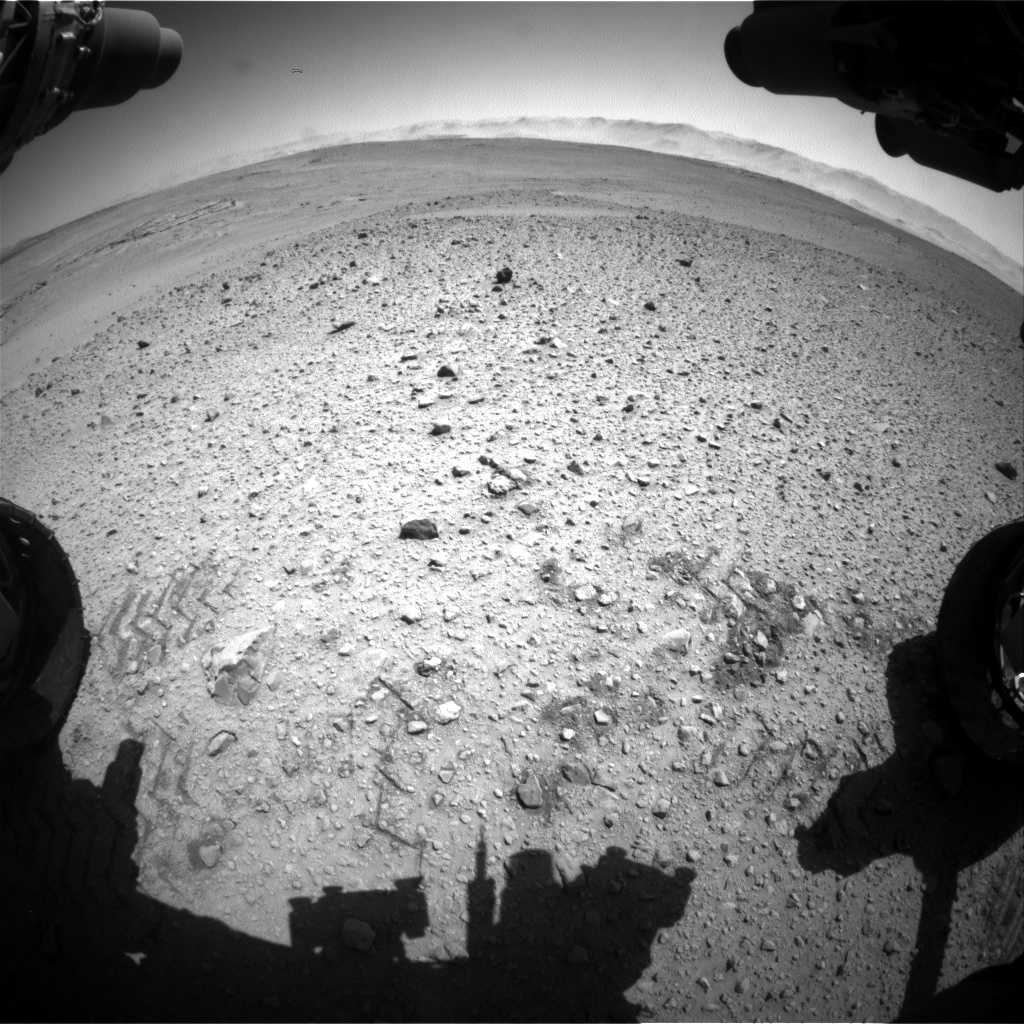 Nasa's Mars rover Curiosity acquired this image using its Front Hazard Avoidance Camera (Front Hazcam) on Sol 642, at drive 308, site number 33