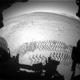 Nasa's Mars rover Curiosity acquired this image using its Front Hazard Avoidance Camera (Front Hazcam) on Sol 643, at drive 542, site number 33