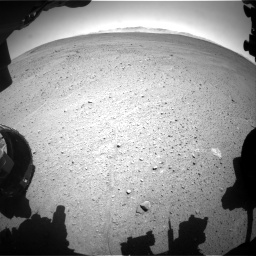 Nasa's Mars rover Curiosity acquired this image using its Front Hazard Avoidance Camera (Front Hazcam) on Sol 643, at drive 608, site number 33