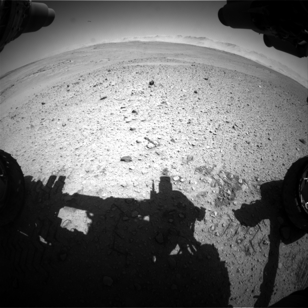 Nasa's Mars rover Curiosity acquired this image using its Front Hazard Avoidance Camera (Front Hazcam) on Sol 643, at drive 308, site number 33