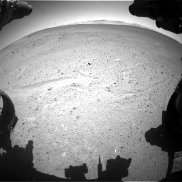 Nasa's Mars rover Curiosity acquired this image using its Front Hazard Avoidance Camera (Front Hazcam) on Sol 643, at drive 590, site number 33