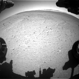 Nasa's Mars rover Curiosity acquired this image using its Front Hazard Avoidance Camera (Front Hazcam) on Sol 643, at drive 626, site number 33