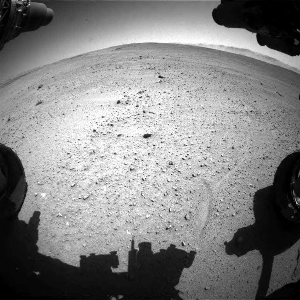 Nasa's Mars rover Curiosity acquired this image using its Front Hazard Avoidance Camera (Front Hazcam) on Sol 643, at drive 660, site number 33
