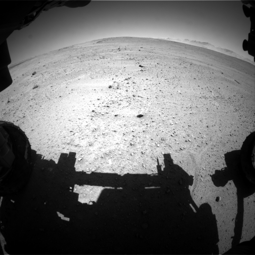 Nasa's Mars rover Curiosity acquired this image using its Front Hazard Avoidance Camera (Front Hazcam) on Sol 644, at drive 660, site number 33