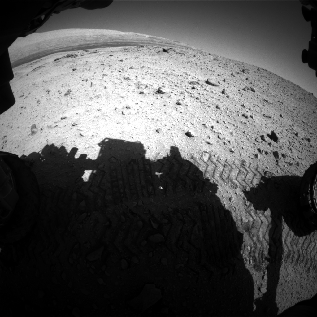Nasa's Mars rover Curiosity acquired this image using its Front Hazard Avoidance Camera (Front Hazcam) on Sol 644, at drive 1036, site number 33