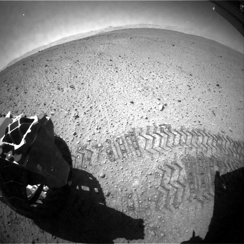 NASA's Mars rover Curiosity acquired this image using its Rear Hazard Avoidance Cameras (Rear Hazcams) on Sol 644