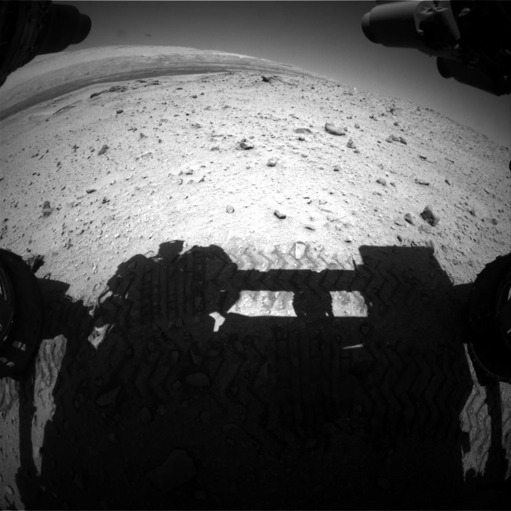 Nasa's Mars rover Curiosity acquired this image using its Front Hazard Avoidance Camera (Front Hazcam) on Sol 645, at drive 1036, site number 33