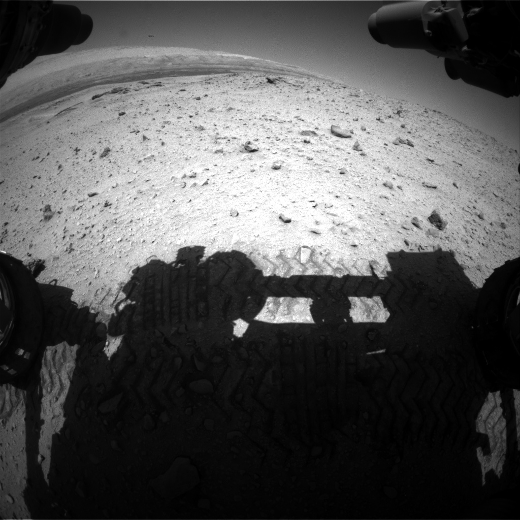Nasa's Mars rover Curiosity acquired this image using its Front Hazard Avoidance Camera (Front Hazcam) on Sol 646, at drive 1036, site number 33
