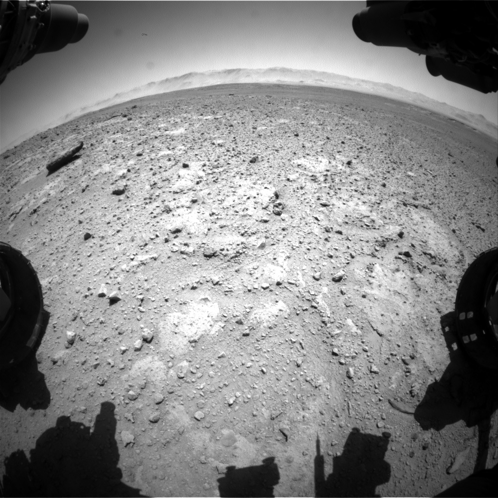 Nasa's Mars rover Curiosity acquired this image using its Front Hazard Avoidance Camera (Front Hazcam) on Sol 647, at drive 1334, site number 33