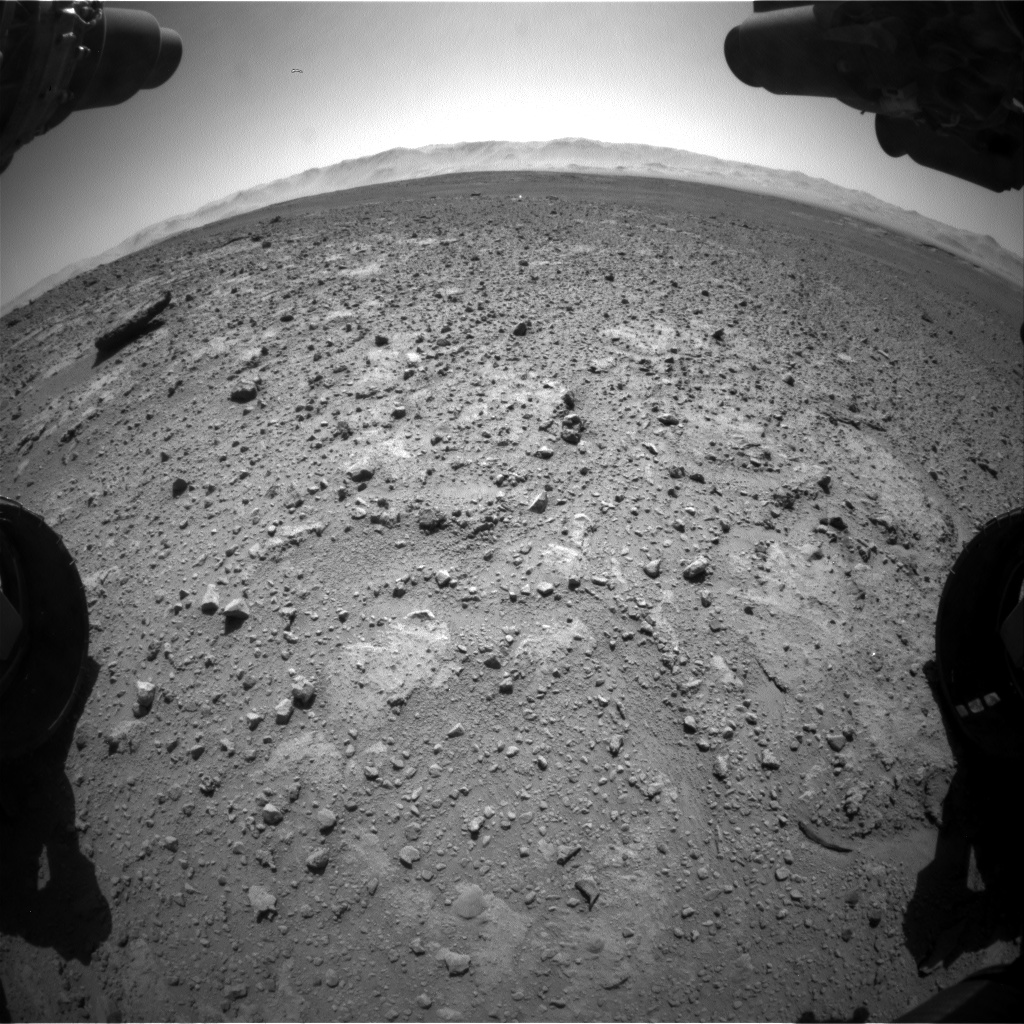 Nasa's Mars rover Curiosity acquired this image using its Front Hazard Avoidance Camera (Front Hazcam) on Sol 647, at drive 0, site number 34