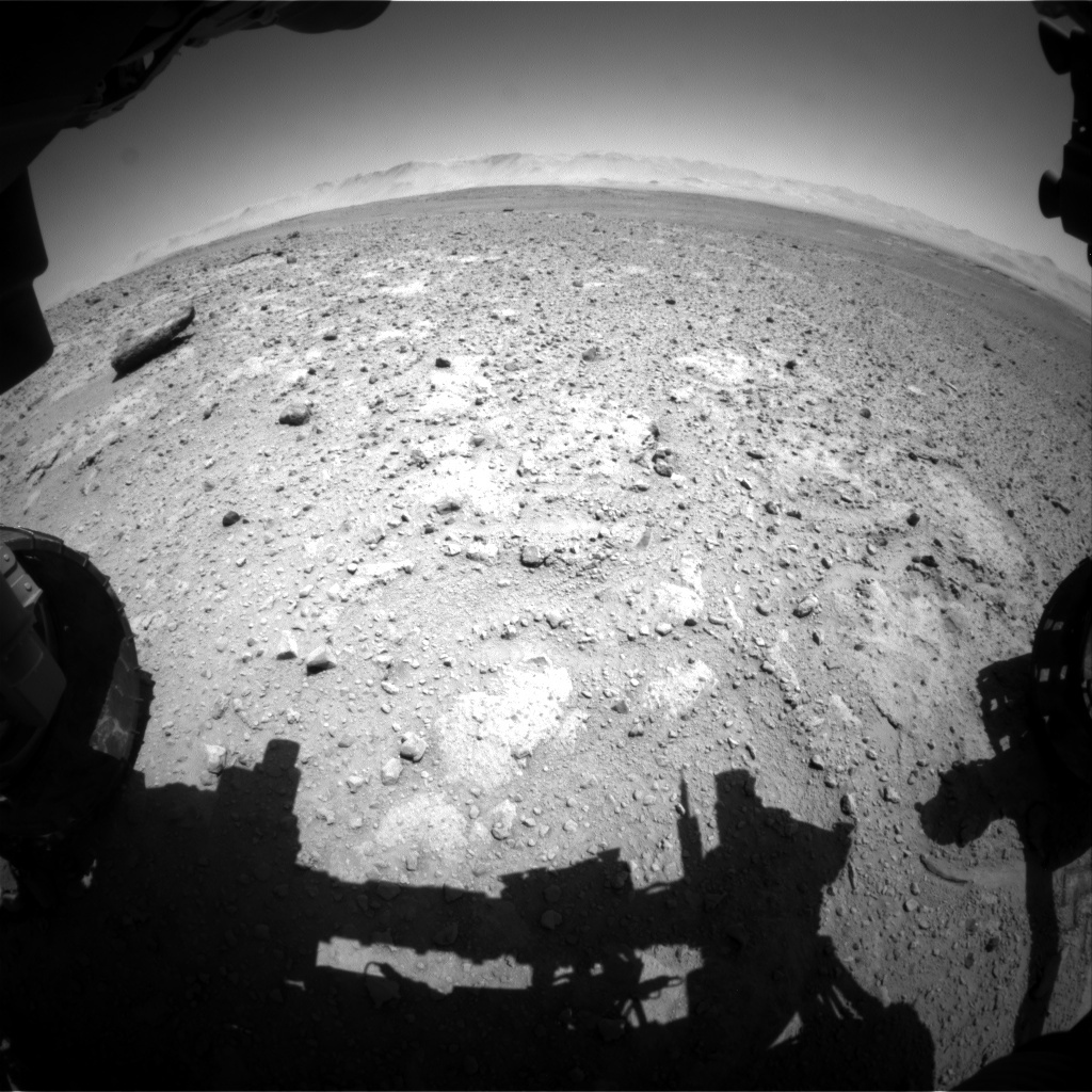 NASA's Mars rover Curiosity acquired this image using its Front Hazard Avoidance Cameras (Front Hazcams) on Sol 648