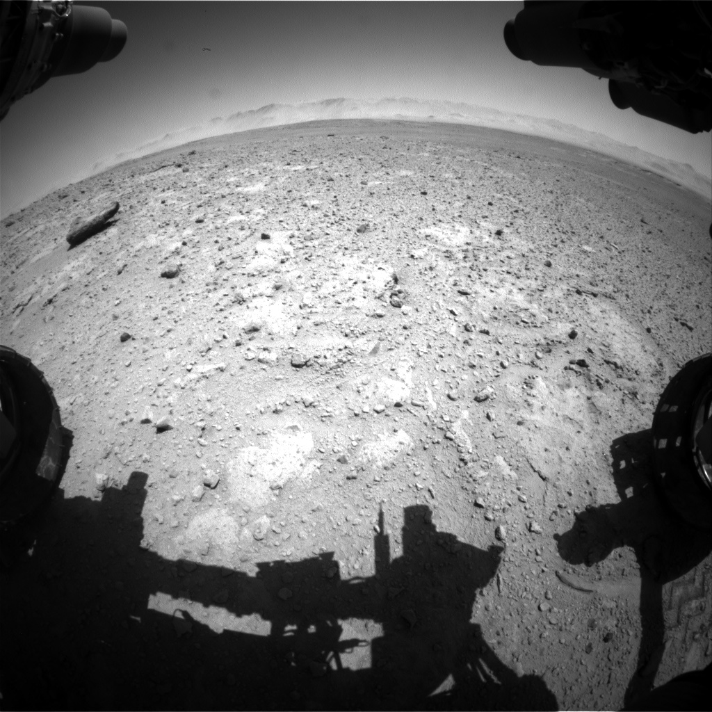 Nasa's Mars rover Curiosity acquired this image using its Front Hazard Avoidance Camera (Front Hazcam) on Sol 648, at drive 0, site number 34