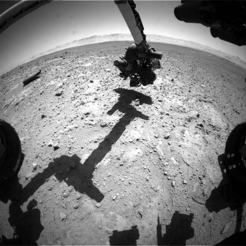 Nasa's Mars rover Curiosity acquired this image using its Front Hazard Avoidance Camera (Front Hazcam) on Sol 649, at drive 0, site number 34