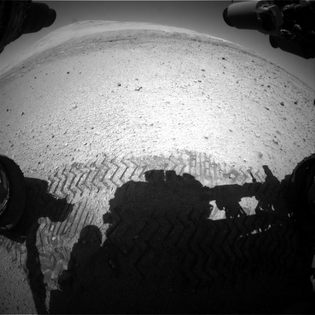 Nasa's Mars rover Curiosity acquired this image using its Front Hazard Avoidance Camera (Front Hazcam) on Sol 650, at drive 286, site number 34