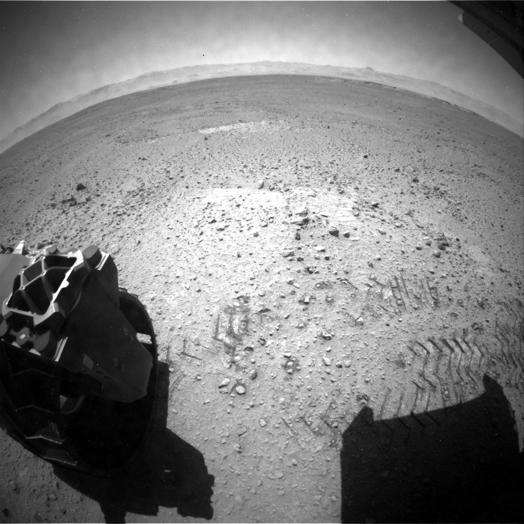 NASA's Mars rover Curiosity acquired this image using its Rear Hazard Avoidance Cameras (Rear Hazcams) on Sol 651