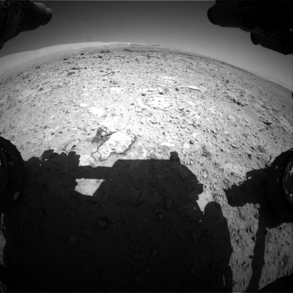 Nasa's Mars rover Curiosity acquired this image using its Front Hazard Avoidance Camera (Front Hazcam) on Sol 653, at drive 416, site number 34