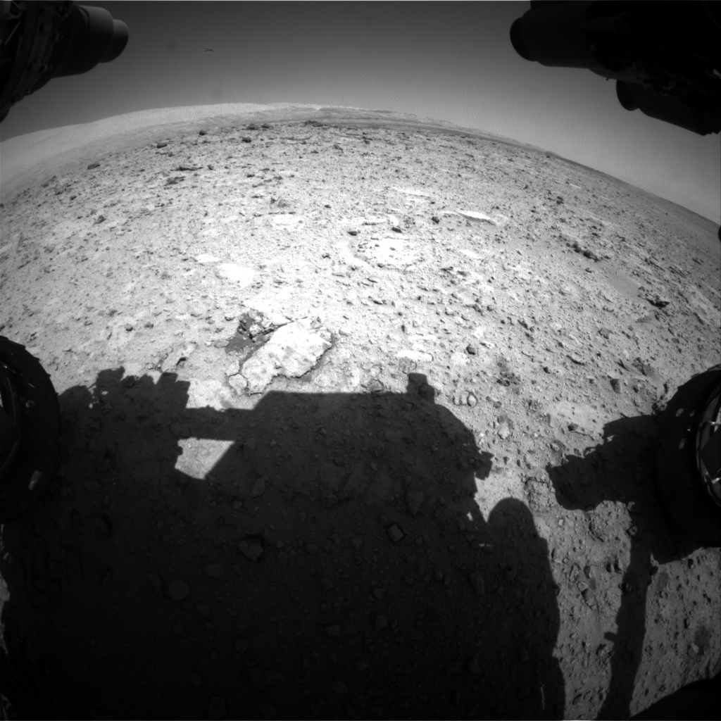 Nasa's Mars rover Curiosity acquired this image using its Front Hazard Avoidance Camera (Front Hazcam) on Sol 654, at drive 416, site number 34