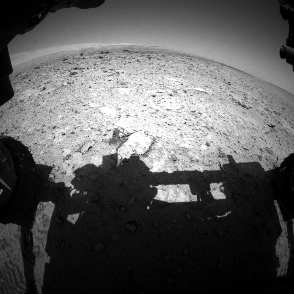 NASA's Mars rover Curiosity acquired this image using its Front Hazard Avoidance Cameras (Front Hazcams) on Sol 655
