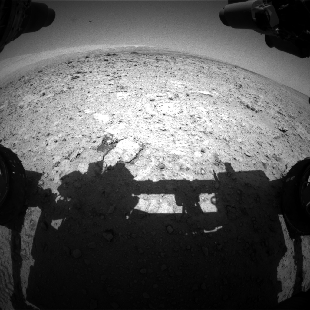Nasa's Mars rover Curiosity acquired this image using its Front Hazard Avoidance Camera (Front Hazcam) on Sol 655, at drive 416, site number 34