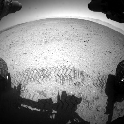 Nasa's Mars rover Curiosity acquired this image using its Front Hazard Avoidance Camera (Front Hazcam) on Sol 655, at drive 674, site number 34