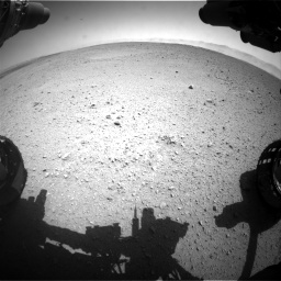 Nasa's Mars rover Curiosity acquired this image using its Front Hazard Avoidance Camera (Front Hazcam) on Sol 655, at drive 680, site number 34