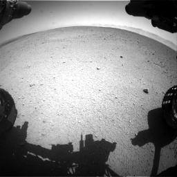 Nasa's Mars rover Curiosity acquired this image using its Front Hazard Avoidance Camera (Front Hazcam) on Sol 655, at drive 698, site number 34