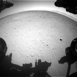Nasa's Mars rover Curiosity acquired this image using its Front Hazard Avoidance Camera (Front Hazcam) on Sol 655, at drive 716, site number 34
