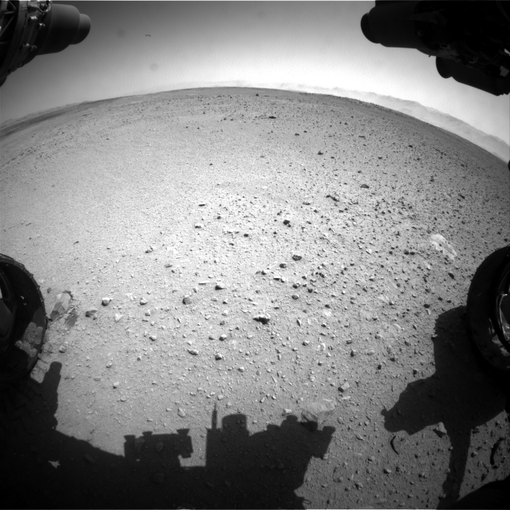 Nasa's Mars rover Curiosity acquired this image using its Front Hazard Avoidance Camera (Front Hazcam) on Sol 655, at drive 774, site number 34