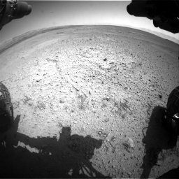 Nasa's Mars rover Curiosity acquired this image using its Front Hazard Avoidance Camera (Front Hazcam) on Sol 656, at drive 1008, site number 34