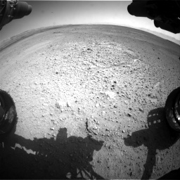 Nasa's Mars rover Curiosity acquired this image using its Front Hazard Avoidance Camera (Front Hazcam) on Sol 656, at drive 1020, site number 34