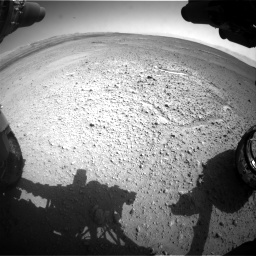 Nasa's Mars rover Curiosity acquired this image using its Front Hazard Avoidance Camera (Front Hazcam) on Sol 656, at drive 1026, site number 34