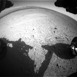 Nasa's Mars rover Curiosity acquired this image using its Front Hazard Avoidance Camera (Front Hazcam) on Sol 656, at drive 1074, site number 34