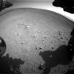 Nasa's Mars rover Curiosity acquired this image using its Front Hazard Avoidance Camera (Front Hazcam) on Sol 656, at drive 1104, site number 34