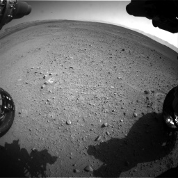 Nasa's Mars rover Curiosity acquired this image using its Front Hazard Avoidance Camera (Front Hazcam) on Sol 656, at drive 1110, site number 34