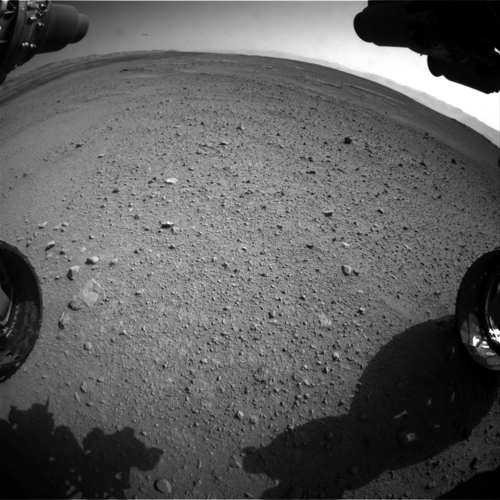 Nasa's Mars rover Curiosity acquired this image using its Front Hazard Avoidance Camera (Front Hazcam) on Sol 656, at drive 1120, site number 34