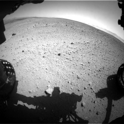 NASA's Mars rover Curiosity acquired this image using its Front Hazard Avoidance Cameras (Front Hazcams) on Sol 657