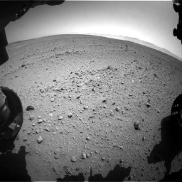 Nasa's Mars rover Curiosity acquired this image using its Front Hazard Avoidance Camera (Front Hazcam) on Sol 657, at drive 1516, site number 34