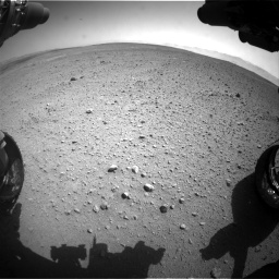 Nasa's Mars rover Curiosity acquired this image using its Front Hazard Avoidance Camera (Front Hazcam) on Sol 657, at drive 1594, site number 34