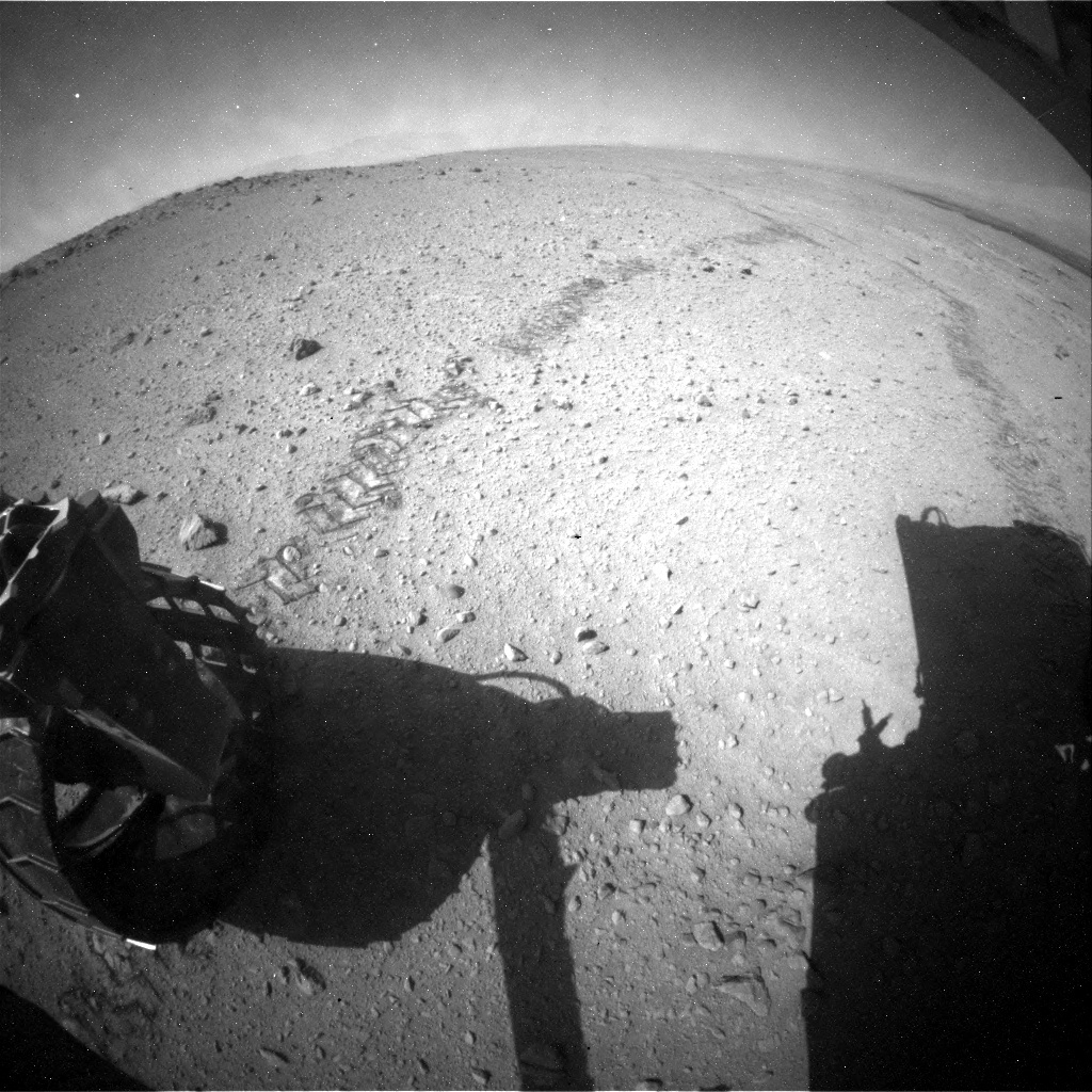 NASA's Mars rover Curiosity acquired this image using its Rear Hazard Avoidance Cameras (Rear Hazcams) on Sol 657