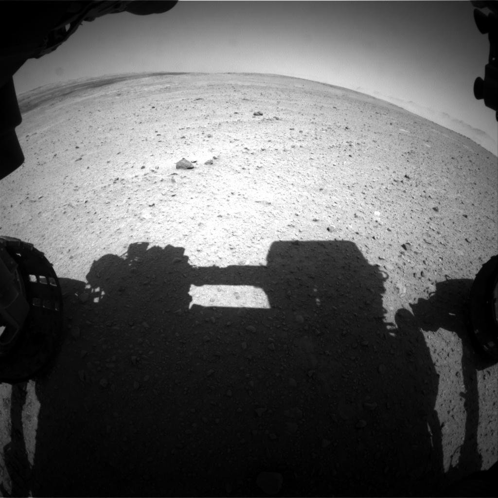 Nasa's Mars rover Curiosity acquired this image using its Front Hazard Avoidance Camera (Front Hazcam) on Sol 658, at drive 0, site number 35