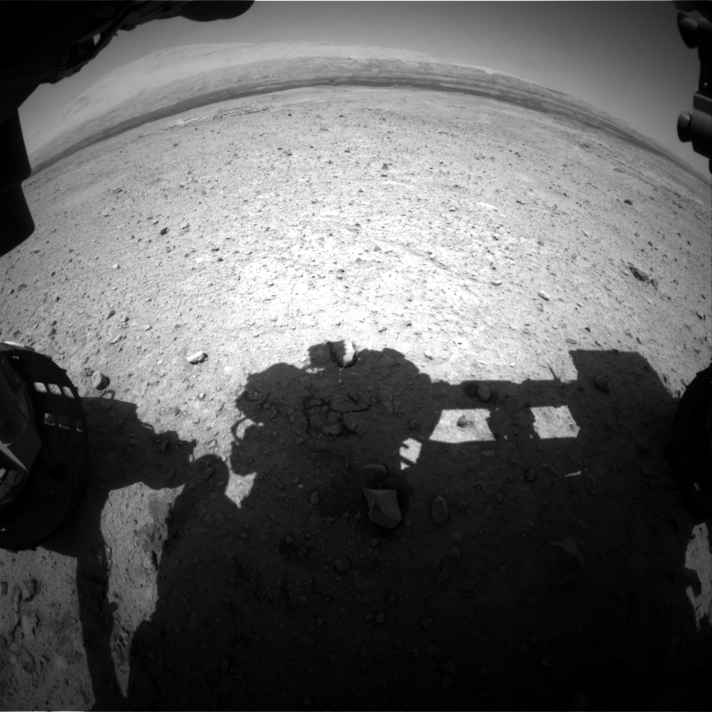 Nasa's Mars rover Curiosity acquired this image using its Front Hazard Avoidance Camera (Front Hazcam) on Sol 660, at drive 238, site number 35