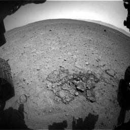 Nasa's Mars rover Curiosity acquired this image using its Front Hazard Avoidance Camera (Front Hazcam) on Sol 661, at drive 814, site number 35