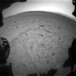 Nasa's Mars rover Curiosity acquired this image using its Front Hazard Avoidance Camera (Front Hazcam) on Sol 661, at drive 892, site number 35
