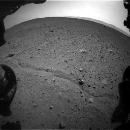 Nasa's Mars rover Curiosity acquired this image using its Front Hazard Avoidance Camera (Front Hazcam) on Sol 661, at drive 970, site number 35