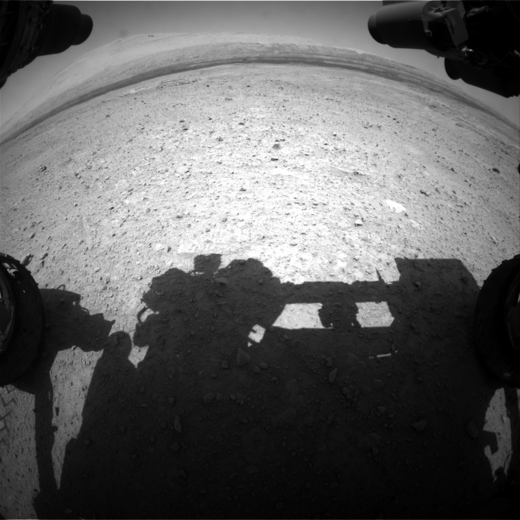 Nasa's Mars rover Curiosity acquired this image using its Front Hazard Avoidance Camera (Front Hazcam) on Sol 661, at drive 262, site number 35