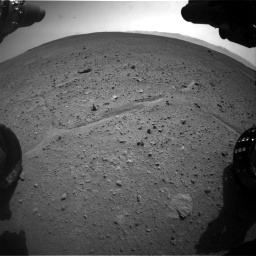 Nasa's Mars rover Curiosity acquired this image using its Front Hazard Avoidance Camera (Front Hazcam) on Sol 661, at drive 976, site number 35