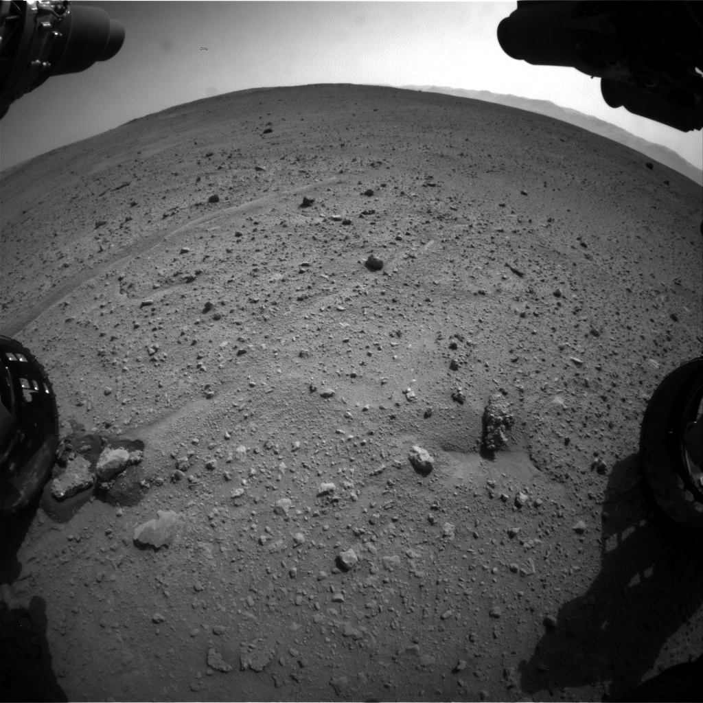 Nasa's Mars rover Curiosity acquired this image using its Front Hazard Avoidance Camera (Front Hazcam) on Sol 661, at drive 998, site number 35
