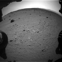 Nasa's Mars rover Curiosity acquired this image using its Front Hazard Avoidance Camera (Front Hazcam) on Sol 662, at drive 1586, site number 35