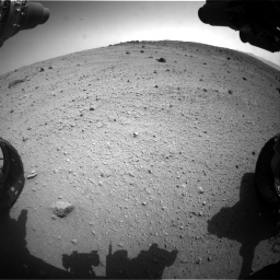 Nasa's Mars rover Curiosity acquired this image using its Front Hazard Avoidance Camera (Front Hazcam) on Sol 662, at drive 1550, site number 35